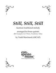 Still, Still, Still (Salzburg melody) — brass quintet