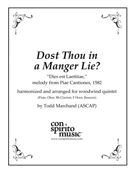 Dost Thou in a Manger Lie? — woodwind quintet