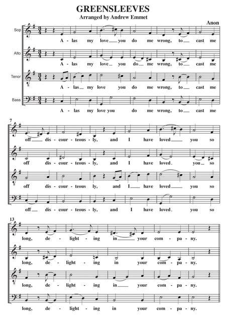 Greensleeves A Cappella