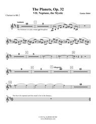 Holst The Planets, VII. Neptune, the Mystic - Clarinet in Bb 2 (Transposed Part), Op. 32