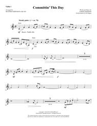 Committin' This Day - Violin 1