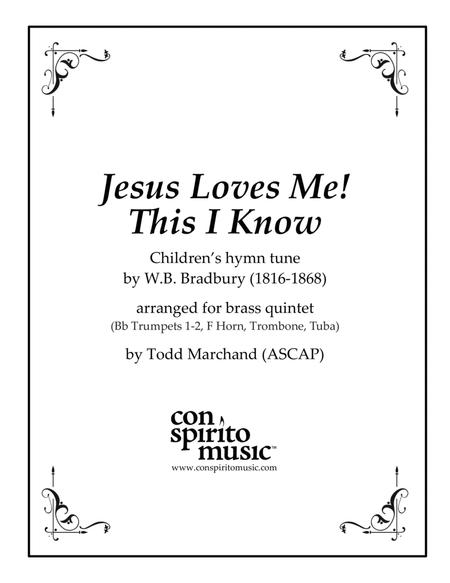 Jesus Loves Me! This I Know — brass quintet