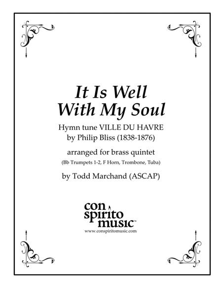 It Is Well With My Soul — brass quintet