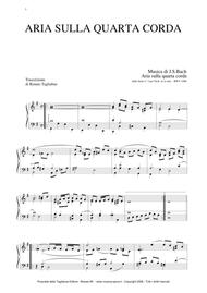AIR ON G STRING - Arr. for Organ/Piano