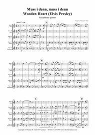 Muss i denn, muss i denn, zum Städele hinaus - Wooden Heart (Elvis Presley) - Saxophone Quintet