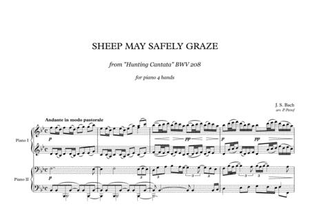 J. S. Bach - SHEEP MAY SAFELY GRAZE - piano 4 hands