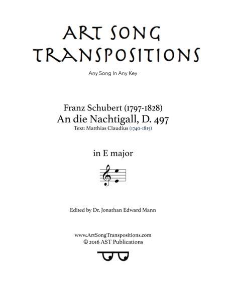 An die Nachtigall, D. 497 (E major)