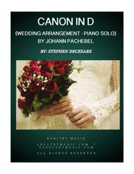 Pachelbel's Canon (Wedding Arrangement for Piano Solo)