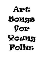 Art Songs for Young Folks, Vol. 1 - trombone or euphonium and piano