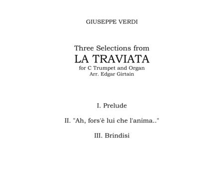Three Selections from La Traviata, for C Trumpet and Organ