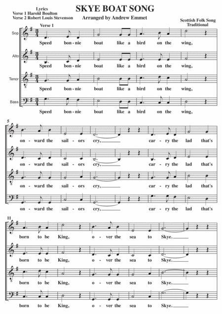 Skye Boat Song A Cappella