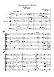 Beethoven: Piano Sonata No.12 in Ab Op.26 Mvt.II Scherzo - wind quintet