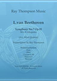 Beethoven: Symphony No.7 Op.92 Mvt.II Allegretto - wind quintet