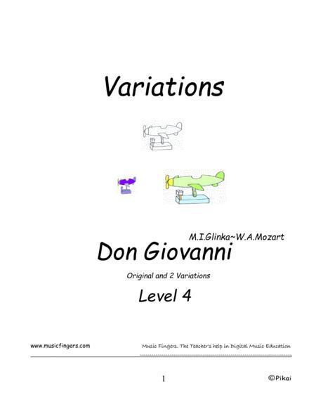 Don Giovanni. Glinka~Mozart. Lev. 4. Variations.