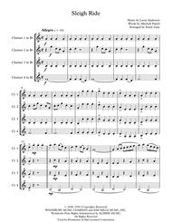 Sleigh Ride (4 Clarinets)