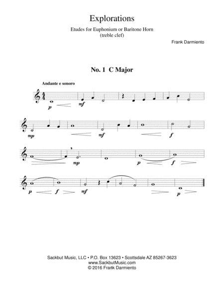Explorations: Etudes for Euphonium or Baritone Horn - treble clef