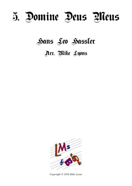 Domine Deus Meus - Cantiones Sacrae (Brass quartet)