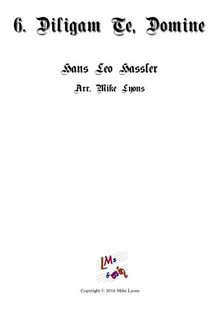 Diligam Te Domine - Cantiones Sacrae (Brass quartet)