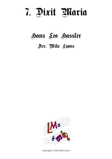 Dixit Maria ad Angelum - Cantiones Sacrae (Brass quartet)