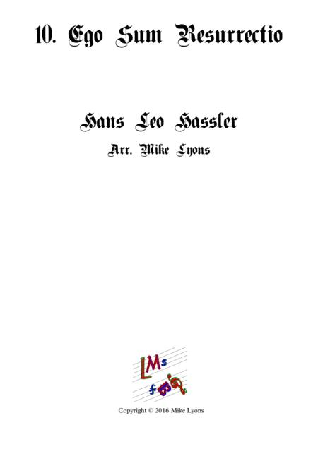 Ego Sum Resurrectio -Cantiones Sacrae (Brass quartet)