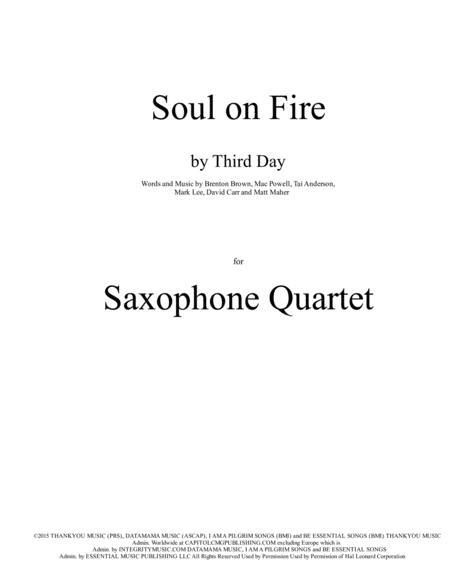 Soul On Fire for Saxophone Quartet