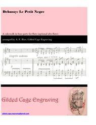 Le petit negre (scored for flute choir, 4 flutes or 3 and 1 alto)