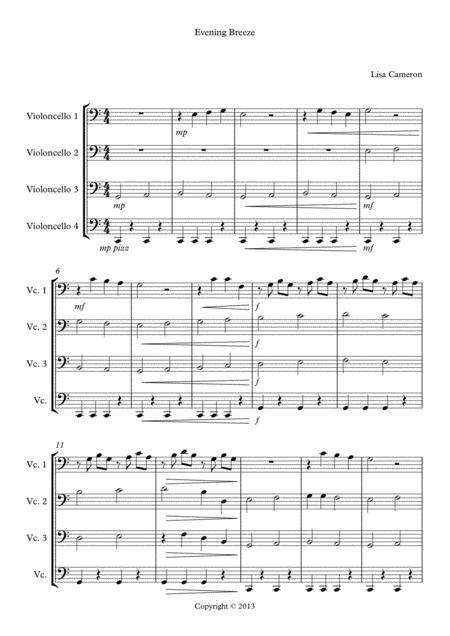 Evening Breeze - Cello Quartet