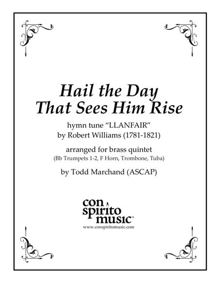 Hail the Day That Sees Him Rise — brass quintet
