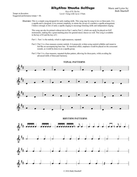 Rhythm Meets Solfege 2 or 3 Part Choir