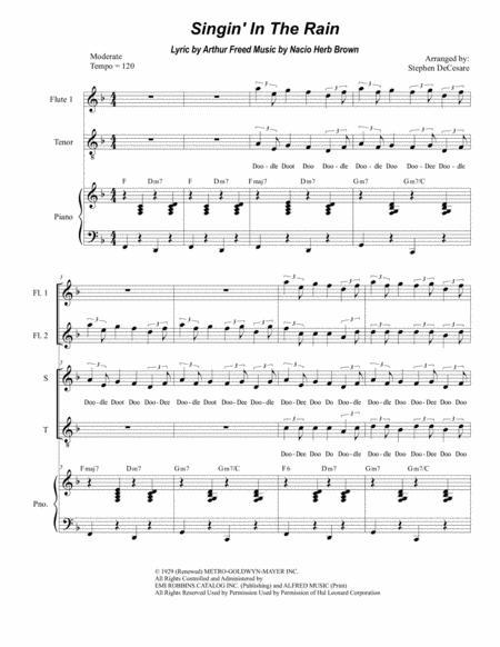 Singin' In The Rain (Duet for Soprano and Tenor Solo)