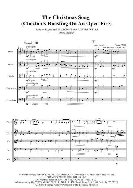 The Christmas Song - (Chestnuts Roasting On An Open Fire) - String Quintet