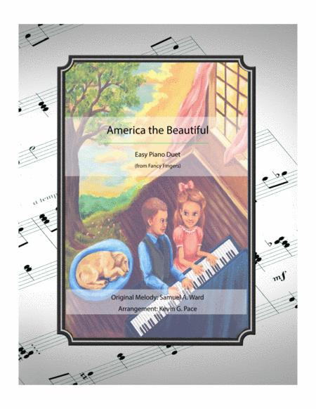 America the Beautiful - easy piano duet