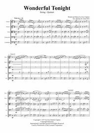 Wonderful Tonight - Eric Clapton - String Quintet