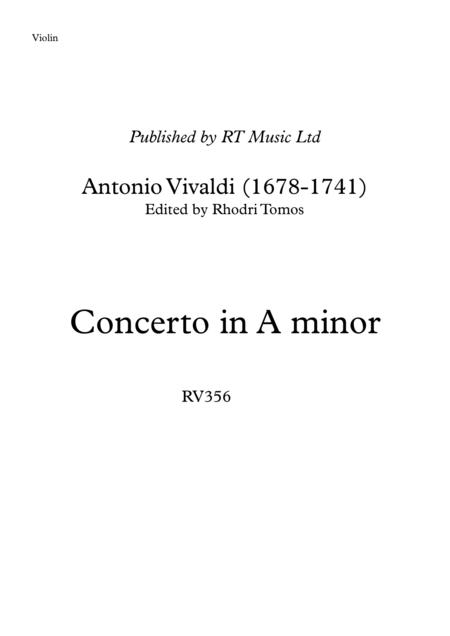 Vivaldi RV356 Concerto in A minor - solo violin & trumpet parts