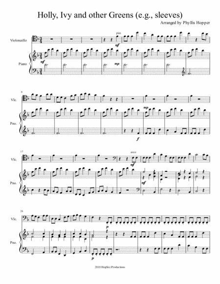 Christmas Greens Medley - cello