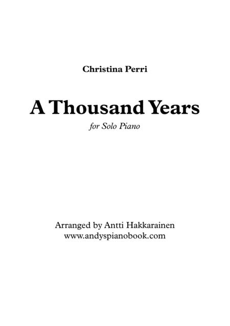 A Thousand Years - Piano