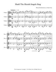 Hark! The Herald Angels Sing - 4 Violins