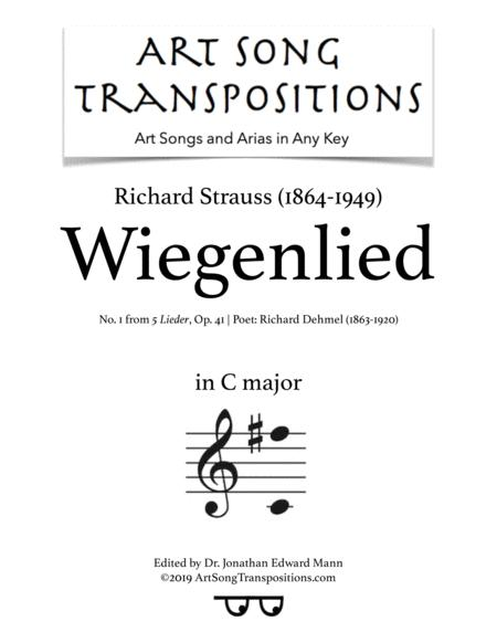 Wiegenlied, Op. 41 no. 1 (transposed to C major)