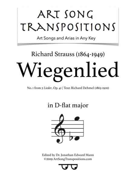 Wiegenlied, Op. 41 no. 1 (D-flat major)