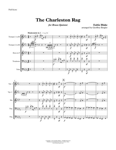 The Charleston Rag for Brass Quintet