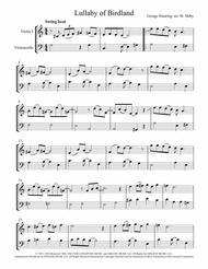 Lullaby Of Birdland arr. for violin & cello duet