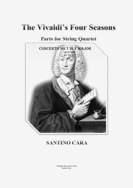 Concerto No.3 in F major Op.8 Autumn RV 293 for String Quartet