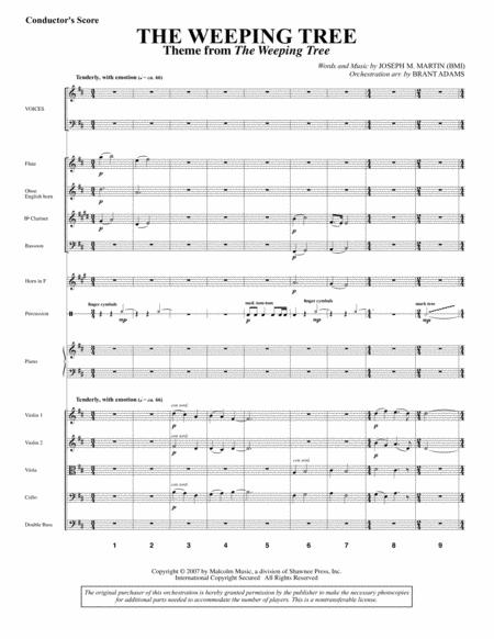 The Weeping Tree - Score