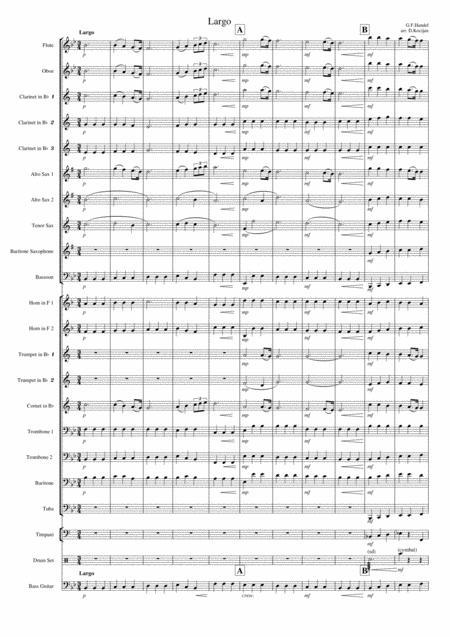 G. F. Handel - Ombra mai fu - Largo from Xerxes - Concert band