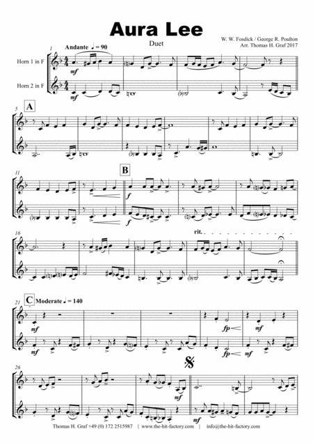 Aura Lee - Love me tender - Elvis - Duet Horn