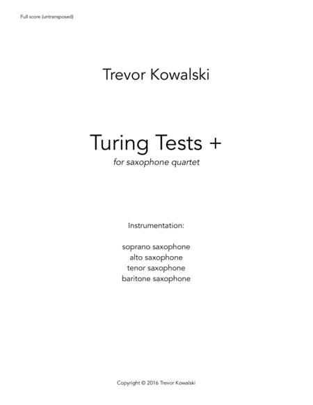 Turing Tests + (saxophone quartet)