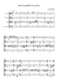 How Long Will I Love You (string quartet)