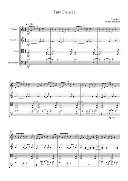 Tiny Dancer (string quartet)