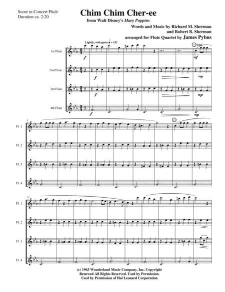 Chim Chim Cher-ee from Walt Disney's MARY POPPINS flute quartet version