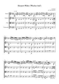 J.S. Bach: Sleepers Wake / Wachet Auf (string quartet)